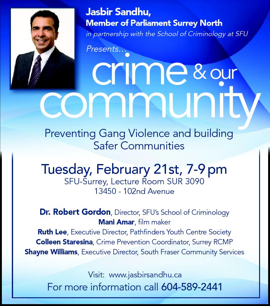 Crime & Our Community - February 21st, 2012